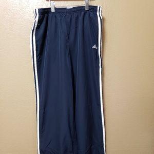 Women's Adidas Navy Striped Pants